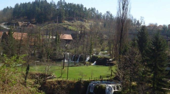 Waterfalls of river Slunjcica near Plitvice Lakes National Park
