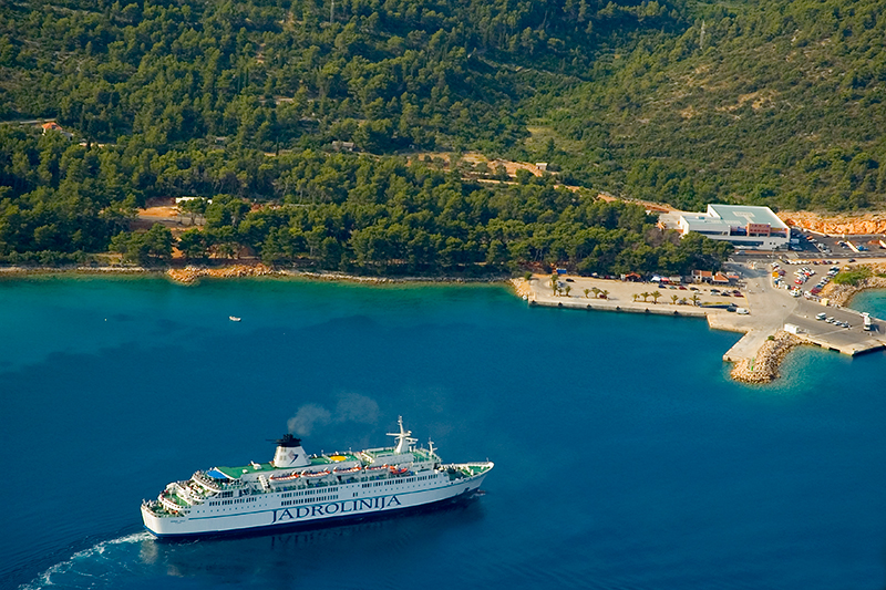 Ferry port in Stari Grad is the main port on Hvar island