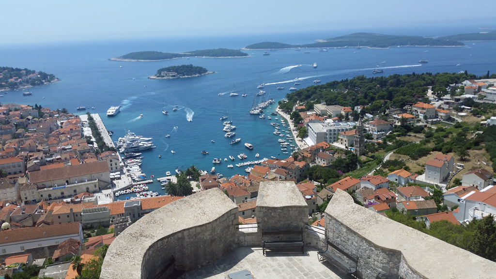 Hvar town is the main tourist attraction on the island of Hvar