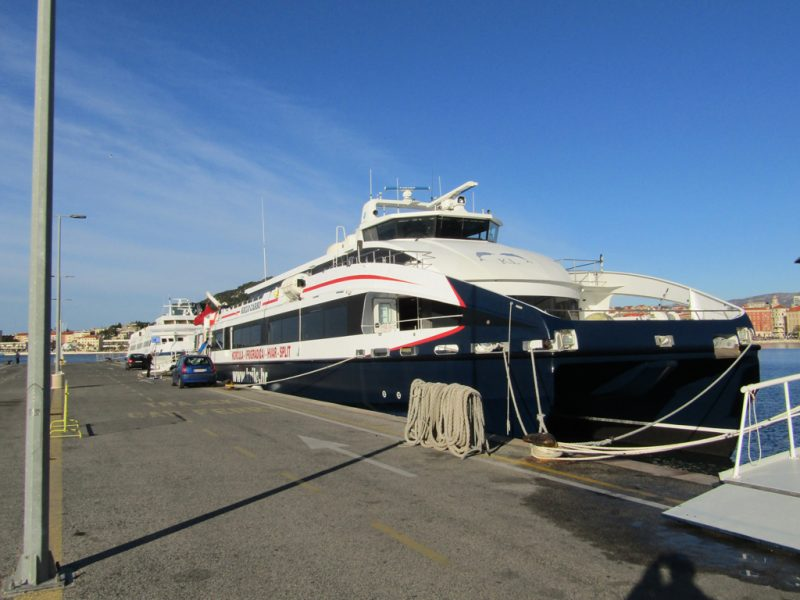 Krilo catamaran is connecting Split to Hvar town
