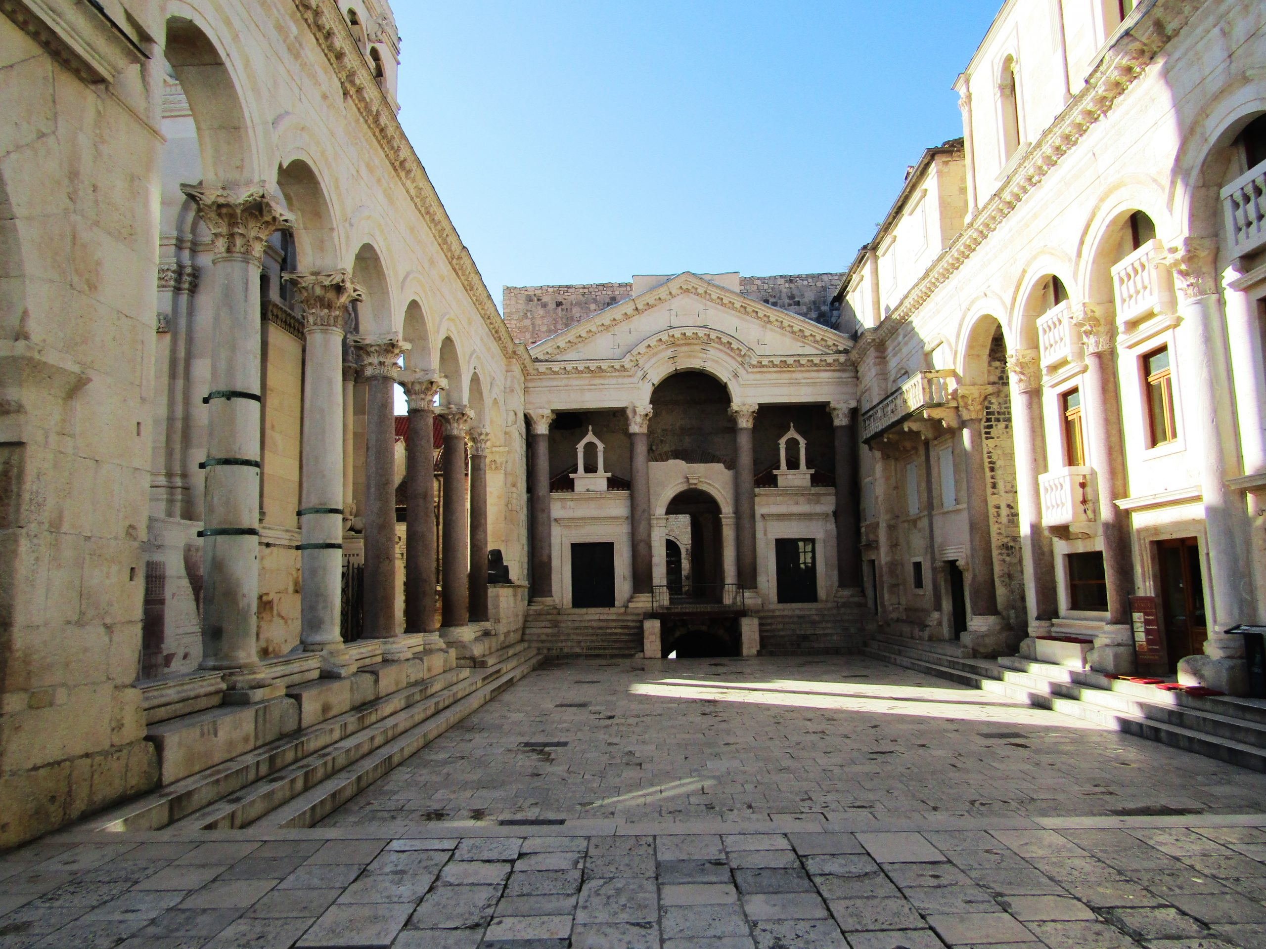 Peristyle Square is located in the center of Diocletian's Palace