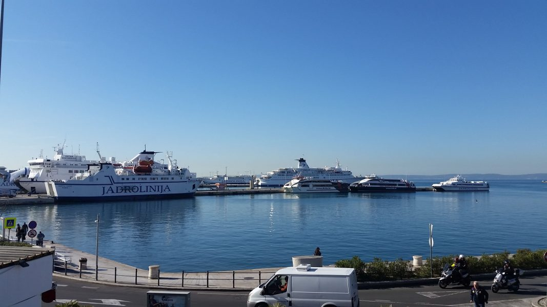 Port of Split is the also a location place of the Main Bus Station in Split.